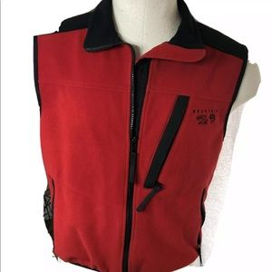 MOUNTAIN HARD WEAR Fleece Vest Men M Red Black